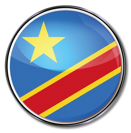 democratic republic of the congo: Button democratic republic Congo