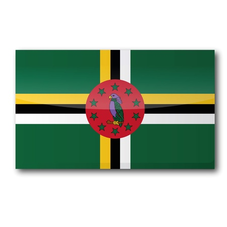Flag Dominica Stock Vector - 17313479