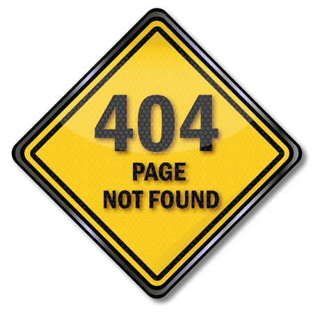 page not found: Sign 404 page not found Illustration