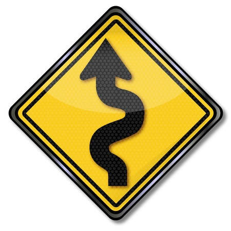 Traffic Sign attention curves Stock Vector - 17313465
