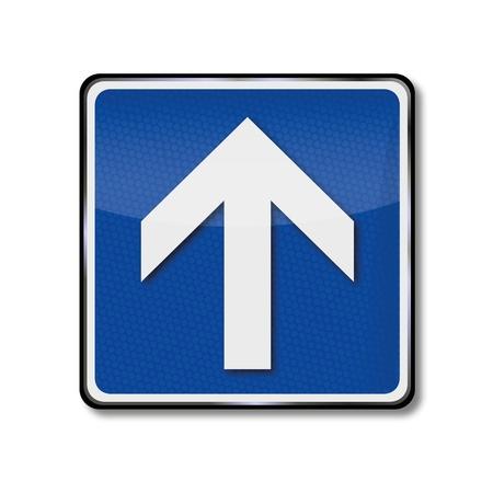 upwards: Traffic Sign Arrow, direction and upwards