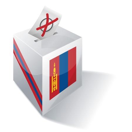 landlocked country: Ballot box Mongolia Illustration