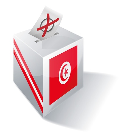 liberal: Ballot box Tunisia Illustration