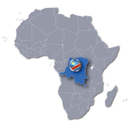 democratic: Africa map Democratic Republic Congo Stock Photo