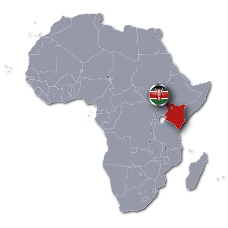 Africa map Kenya photo