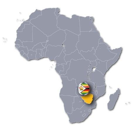 zimbabwe: África Zimbabwe mapa Foto de archivo