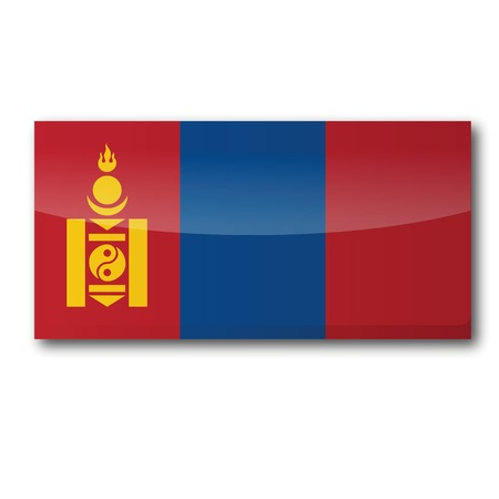 mongolia: Flag Mongolia Illustration