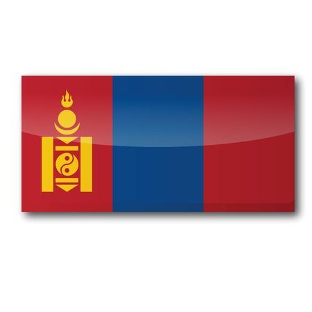 landlocked: Flag Mongolia Illustration