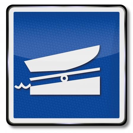 Ship sign boat ramp Stock Vector - 17459748