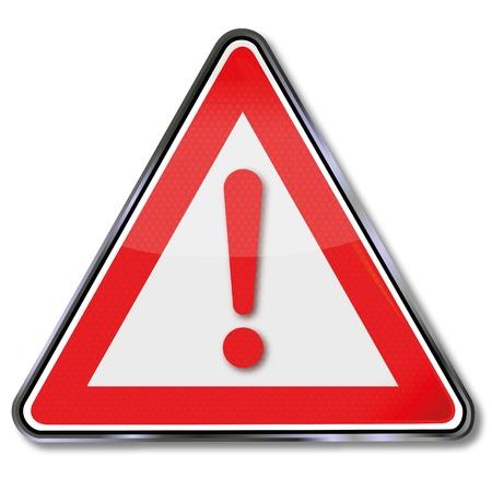 hazard symbol: Sign and call sign Illustration