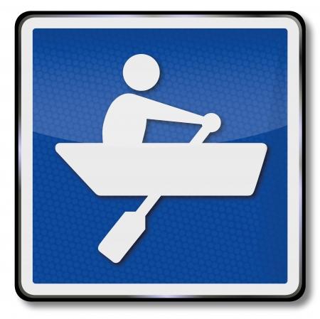 rowboat: Transportar firmar bote de remos