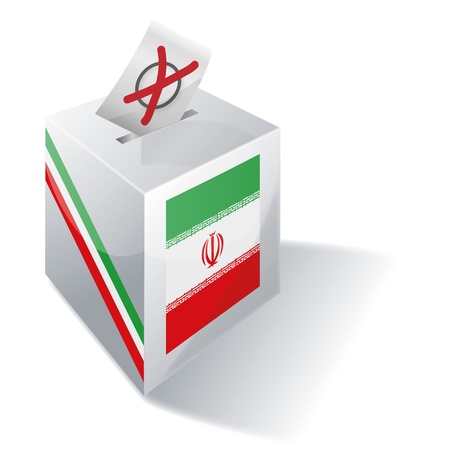 absentee voting: Ballot box Iran Illustration