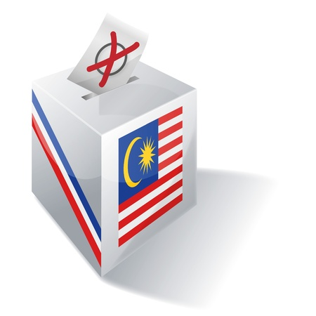 absentee: Ballot box Malaysia Illustration