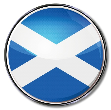 scottish flag: Button Scozia
