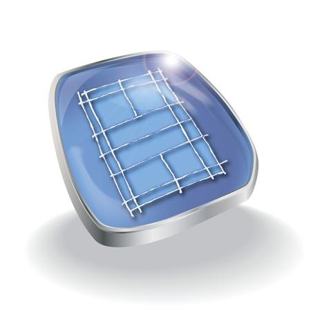 shuttlecock: Button playing field badminton Illustration