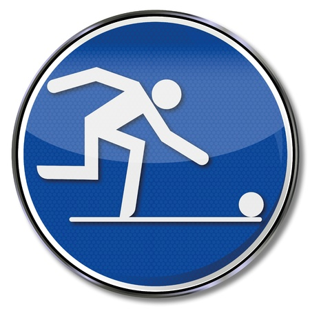 Sign bowling Vector