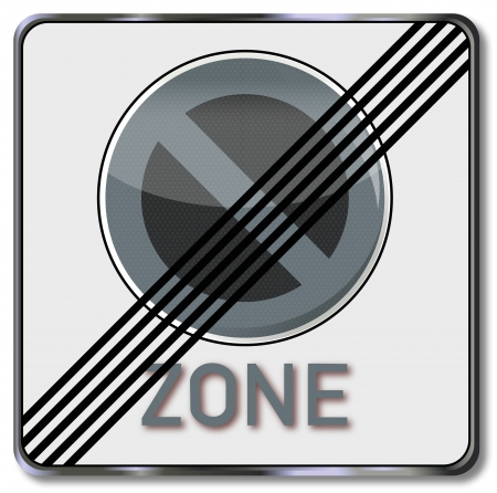 car parking: Sign end of the parking zone Illustration
