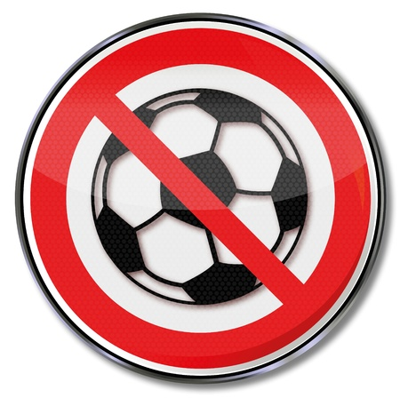 Prohibition sign soccer Stock Vector - 17620537