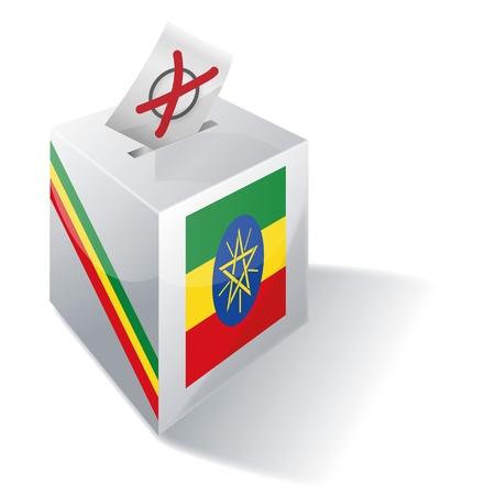 absentee voting: Ballot box Ethiopia Illustration