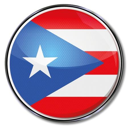 puerto rico: Button Puerto Rico Illustration