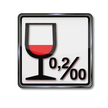 limit: Sign Alcohol limit and alcohol 0 02 per thousand