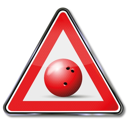 ten pin bowling: Sign bowling ball