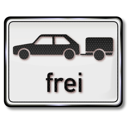 camping pitch: Traffic sign trailer free Illustration
