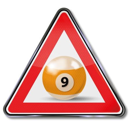 9 ball: billiard ball number 9