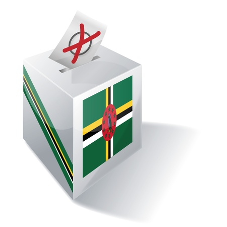 absentee voting: Ballot box Dominica Illustration