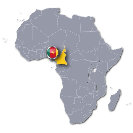 cameroon: Africa map Cameroon Stock Photo