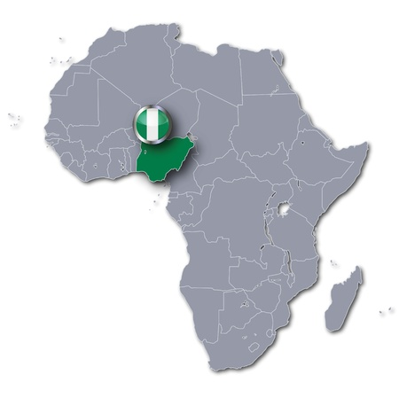 Africa map Nigeria Stock Photo - 17773407