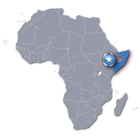 somali: Africa map Somalia Stock Photo