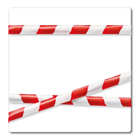 prohibitions: Barrier tape red and white