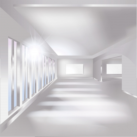 Hall, gallery and exhibition Vector