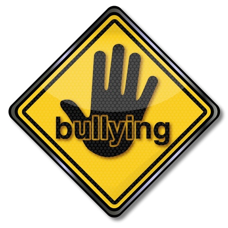 violence in the workplace: Sign no bullying Illustration