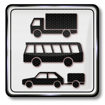 Traffic sign car, trucks, lorry, bus and trailer Stock Vector - 17773488