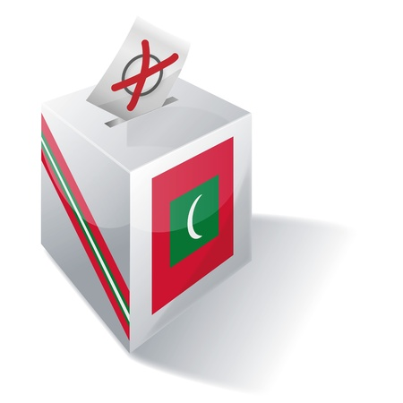 absentee voting: Ballot box Maldives