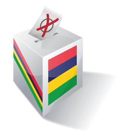 absentee: Ballot box Mauritius Illustration