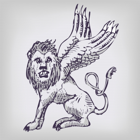 lion, wing, and chimeras