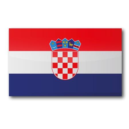 croatia flag: Flag Croatia Illustration