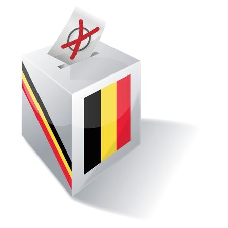 absentee voting: Ballot box Belgium Illustration