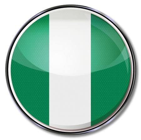 Button Nigeria Stock Vector - 17934113