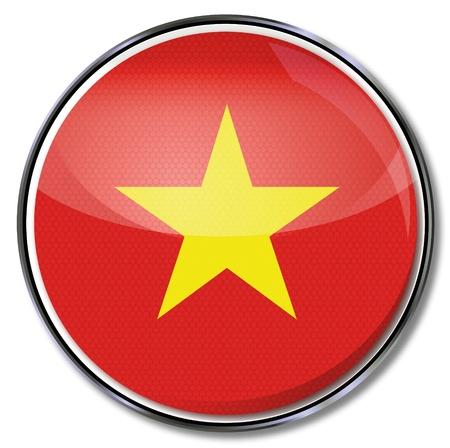 china flag: Button Vietnam