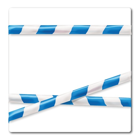 Barrier tape blue and white Stock Vector - 17934117