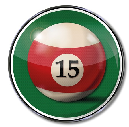 15: Sign billiard ball number 15