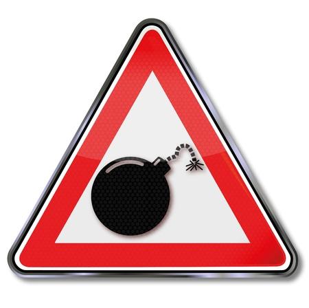 contaminacion acustica: Regístrate bomba y se fusionan Vectores