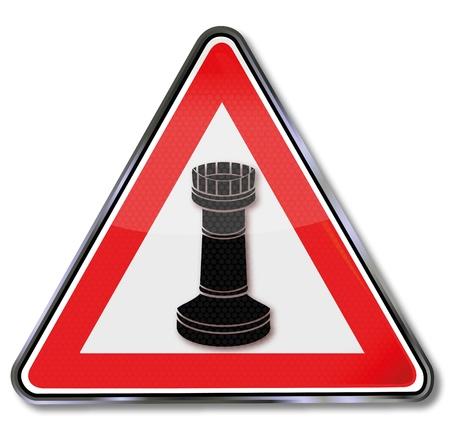 indeciso: Reg�strate torre de ajedrez Vectores