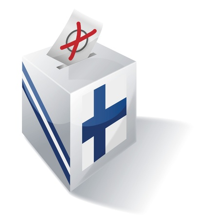 local elections: Ballot box Finland Illustration