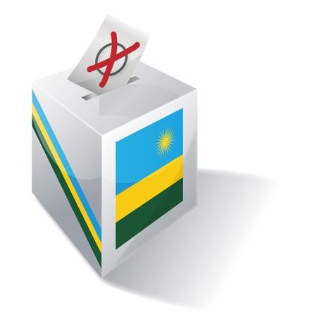 absentee: Ballot box Rwanda Illustration