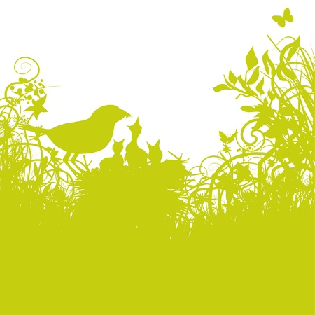 bird s-nest in the gras Vector